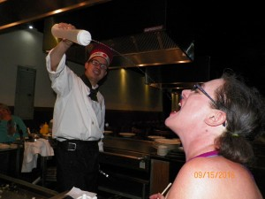 Genital Tongs ordered tea but said she wished she'd ordered sake. Our chef said, Open wide and received my liquid load! She could barely swallow what he deposited in her mouth!